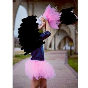 Puseky pink tutu matching skirts (mommy and me)